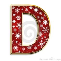 Christmas Letter D In Red