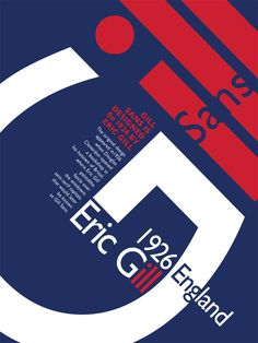 Gill Sans font poster - Google Search