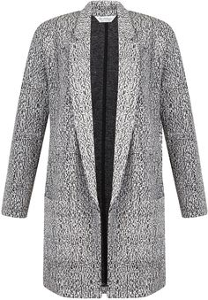 Womens black and white duster from Miss Selfridge - £35 at ClothingByColour.com