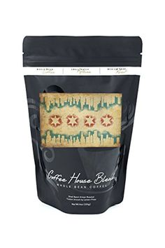 Chicago Illinois  Flag and Skyline Tapestry 8oz Whole Bean Small Batch Artisan Coffee  Bold  Strong Medium Dark Roast w Artwork -- Read more reviews of the product by visiting the link on the image. (This is an affiliate link and I receive a commission for the sales)