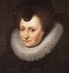 Louise de Coligny (1555 - 1620). Princess of Orange from 1583 until her husband died in 1584. She was the fourth and final wife of William I. They had one son.