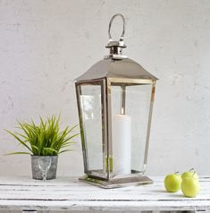 This classic carriage shaped stainless steel lantern is a beautiful feature, perfect for decorating your hallway or dining outdoors. Candle Holders Wedding, Lantern Candle Holders, Candle Lanterns, Candles, Decorative Accessories, Home Accessories, Silver Lanterns, Thing 1, How To Make Lanterns