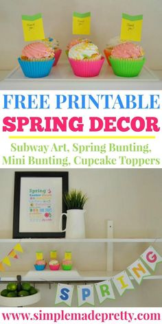 This Free Printable Spring Decor is perfect for last minute Easter decor, a garden party, tea party or to celebrate the arrival of Spring. Spring printables, Spring decor, Spring party, welcome spring, Tea party, tea party decor, outdoor spring decor, garden party decor, garden party banner, spring banner, spring bunting, Easter decor, Free printable Easter decor Easter Decor, Easter Crafts, Easter Ideas, Diy Craft Projects, Crafts For Kids, Diy Crafts, Printable Crafts, Free Printables, Printable Day Planner