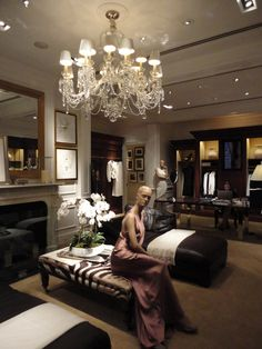 The Women's Section at the Ralph Lauren signature store on Michigan Avenue in Chicago.  Stunning!