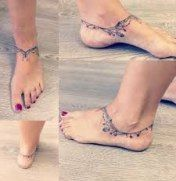 Trendy ankle tattoos are gaining popularity these years, especially among young ladies. MERNUR hopes these 67 Infinity Beautiful Ankle Bracelet Tattoos Design Anklet Tattoos Idea for Women that can help you out. Armband Tattoos, Anklet Tattoos, Feather Tattoos, Forearm Tattoos, Body Art Tattoos, Ankle Bracelet Tattoos, Tatoos, Wrist Tattoo, Charm Bracelet Tattoo
