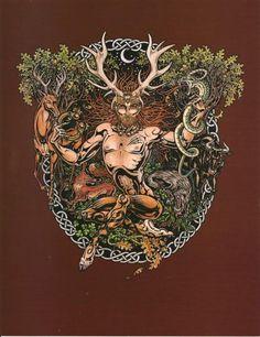 Celtic Forest God | CERNUNNOS Celtic Forest God 8.5 X 11 Poster Print by Maxine Miller