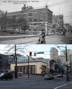 Block of West Hastings - Banks Building, Old Building, Historical Pictures, Historical Sites, Vancouver, Then And Now Photos, Laundry Hacks, British Columbia, Old Photos