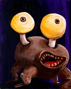Potato Eyes   George Pearlman, Monster Series #monster #painting