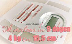 """""""Ik verloor in 9 dagen 4 kg en 15,5 cm!"""" - Another Chapter #blog #bloggen #blogger #life #fun #anotherchapter #afvallen #dieet #diëten #diet #clean9 #detox #forever #flp #mlm #foreverlivingproducts #weegschaal #slank"""