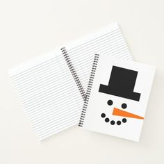 Snowman Face Winter Fun Whimsical Notebook #christmasatbbw #christmastreedress #christmasbeading christmas wreaths, christmas tree decorations ideas, christmas tree decorations themes, back to school, aesthetic wallpaper, y2k fashion Christmas Tree Dress, Christmas Tree Decorations, Christmas Wreaths, Page Design, Cover Design, Snowman Faces, Thing 1, Winter Fun, Xmas Gifts
