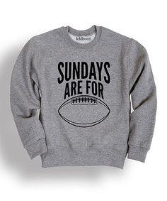 Look what I found on #zulily! Athletic Heather 'Sundays' Sweatshirt - Toddler & Kids #zulilyfinds