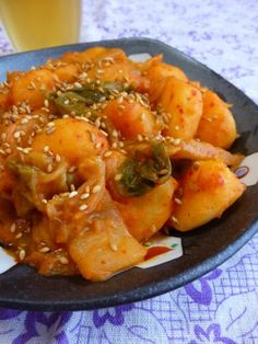 Quick Simmered Kimchi Potatoes