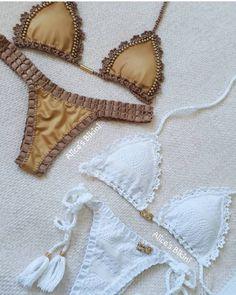 Crochet Bra, Crochet Clothes, Halter Bikini, Bikini Swimwear, Bikini Outfits, Cute Swimsuits, Bikini Colors, Bikini Girls, Bathing Suits
