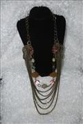 Drape chain with crystal beads