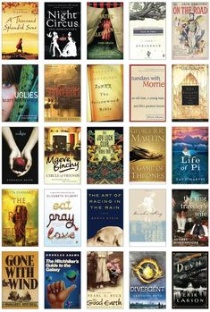 100 Books You Cant Put Down. Ive read some of these . . . I think I should check out the rest!