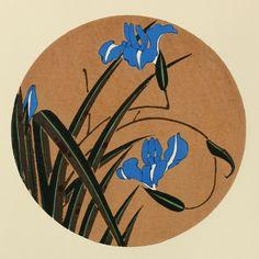 伊藤若冲『かきつばた』-木版画(額装もできます) - 京都 木版画の販売 Winds!芸艸堂(うんそうどう)/Ukiyo-e, Woodblock print - Winds! UNSODO