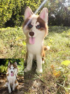 Needle felted Siberian Husky by WoolArtToys.deviantart.com on @DeviantArt