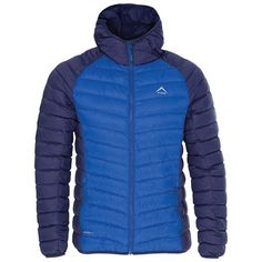 K-Way Men's Barnacle Hooded Down Jacket - Blue/Navy Mountain Biking, Outdoor Gear, Nike Jacket, Hoods, Hiking, Camping, Navy, Jackets, Blue