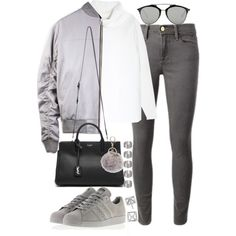 A fashion look from November 2015 featuring Vince sweaters, Frame Denim jeans and adidas sneakers. Browse and shop related looks.