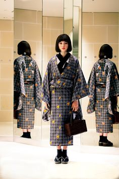 The picture of Article Yukata by mina perhonen, FACETASM and Others Under the Direction of Souta Yamaguchi. Yukata by mina perhonen, FACETASM and Others Under the Direction of Souta Yamaguchi