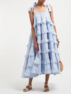Scalloped Cotton Dress, Innika Choo - - The 14 summer dresses that everyone will be talking about this year Source by rheatighe Boho Dress, Dress Skirt, Dress Up, Ruffle Skirt, Chiffon Skirt, Fashion Vestidos, Fashion Dresses, Beach Wear Dresses, Casual Dresses