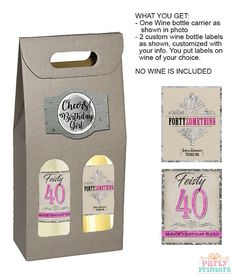 wine basket gifts, gift wine, 40th birthday gifts, wine gift box, wine gift sets, birthday wine labels, custom wine labels