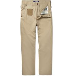 JUNYA WATANABE  CONTRAST-POCKET COTTON-TWILL CHINOS