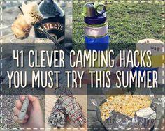 41 Genius Camping Hacks For Summer Fun.............FOLLOW DIY Fun Ideas.............BEST DIY SITE EVER!!