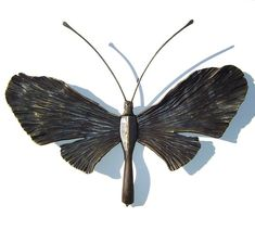 Forged Iron Butterfly #metal #sculpture