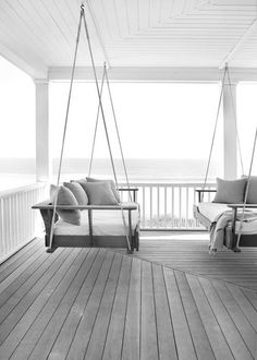 veranda - two swings across from each ther! Such a great idea!