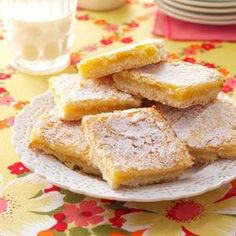 Homemade Lemon Bars Recipe from Taste of Home -- shared by Denise Baumert of Dalhart, Texas