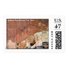 Pictographs at Capitol Reef National Park Postage