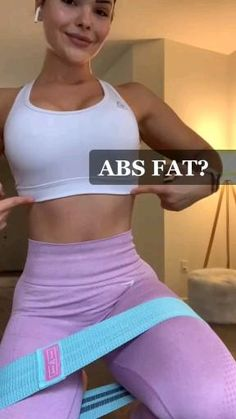 Flat Abs Workout, Gym Workout Videos, Band Workout, Ab Workout At Home, At Home Workouts, Workout Exercises, Treadmill Workouts, Butt Workouts, Summer Body Workouts
