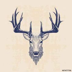 Vecteur : deer head