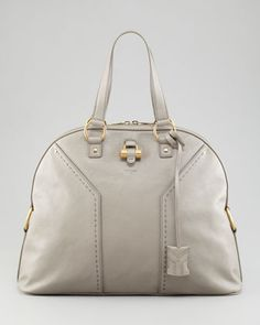 Muse Oversized Leather Tote Bag by Yves Saint Laurent at Bergdorf Goodman.