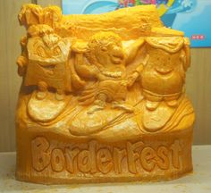 Cheese sculpture for Borderfest 2011, Hidalgo Texas. March 3-6, 2011 Theme-Hawaii