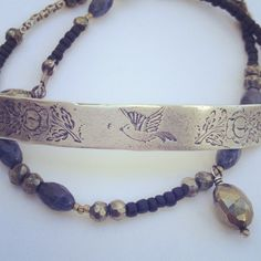 Engraved Bird Wrap Bracelet - Relics by Tami