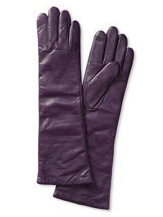 Long Leather Texting Glove | Banana Republic