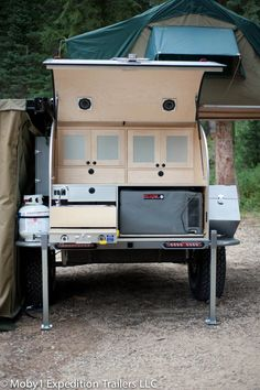 Moby1 XTR camper trailer - food prep in a second! Hot & cold running water w shower & loo optional http://moby1trailers.com/