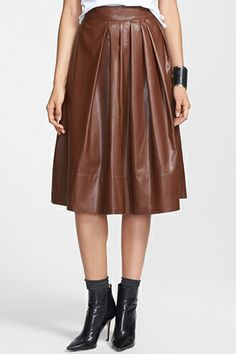 14 Leather Skirts For Every Girl #refinery29 Leith Pleated Faux Leather Town Skirt, $78, available at Nordstrom.