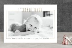 Good as Gold photo holiday card - Rosh Hashanah - by Up Up Creative for Minted