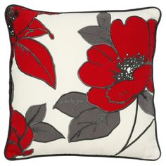 Buy George Home Red Embroidered Floral Cushion - from our Cushions range today from George at ASDA.