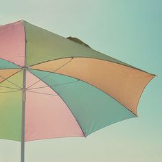 pastel color umbrella for Spring Showers Pastel Palette, Pastel Colors, Pastels, Pastel Blue, Dreamy Photography, Fine Art Photography, Summer Photography, Under My Umbrella, Beach Umbrella