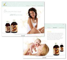 Site Dhermos - Com layout leve, o site da Dhermos transmite a delicadeza do seu produto.