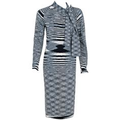 "1stdibs.com | 1970's Missoni Op-Art Cashmere Knit Scarf-Neck Sweater Dress Defines the very meaning of ""Ageless Vintage"" could be Spring 2014"