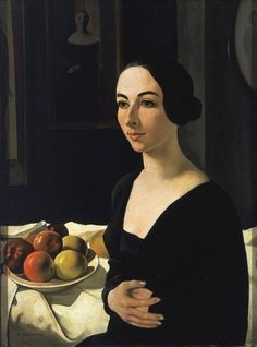 Felice Casorati (Italian 1883-1963) Portrait of Hena Rigotti (1924)