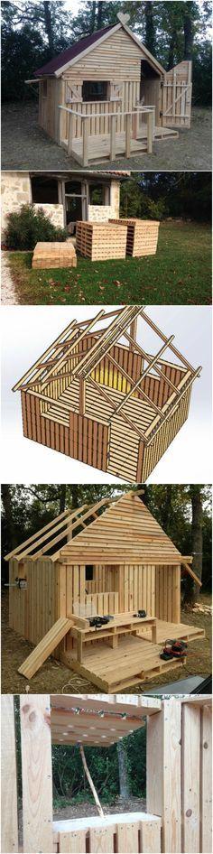 Best DIY Wood & Pallet Ideas: DIY Pallet Hideout F
