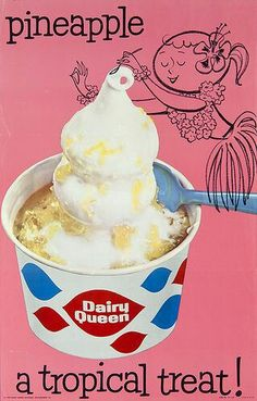 New Dairy Queen Sundae Ideas Dairy Free Muffins, Dairy Free Treats, Dairy Free Diet, Dairy Free Recipes, Retro Ads, Vintage Advertisements, Vintage Ads, Retro Food, Vintage Food