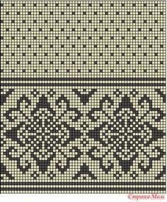 Bilderesultat for strikke diagram Designer Knitting Patterns, Tapestry Crochet Patterns, Fair Isle Knitting Patterns, Fair Isle Pattern, Knitting Charts, Knitting Stitches, Knitting Designs, Fair Isle Chart, Crochet Curtains