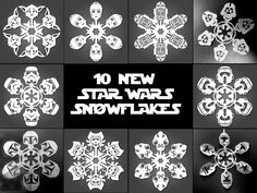 If It's Hip, It's Here: It's Snowing Star Wars! 10 new DIY Star Wars Paper Snowflake Templates.